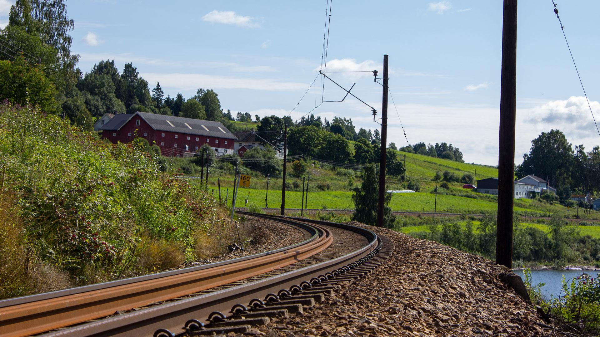 Norwegian train tracks