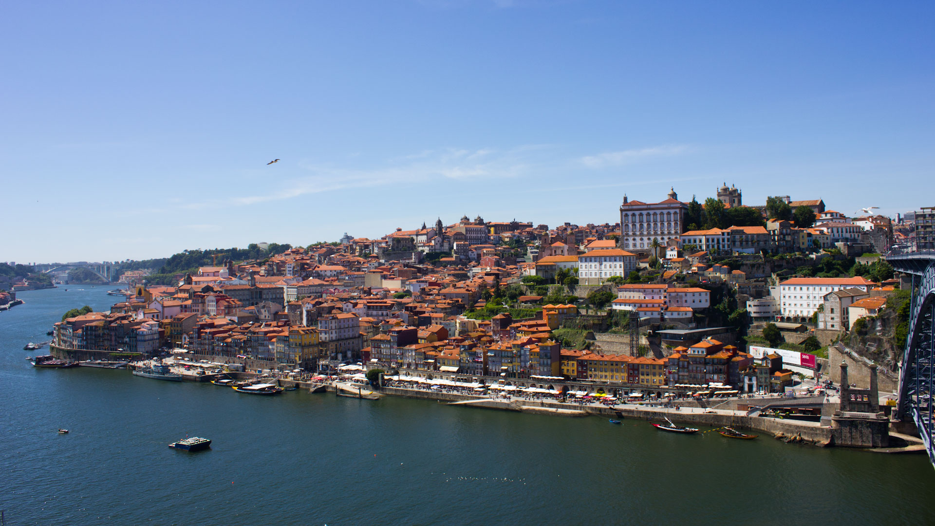 Overview of the historic center of Porto