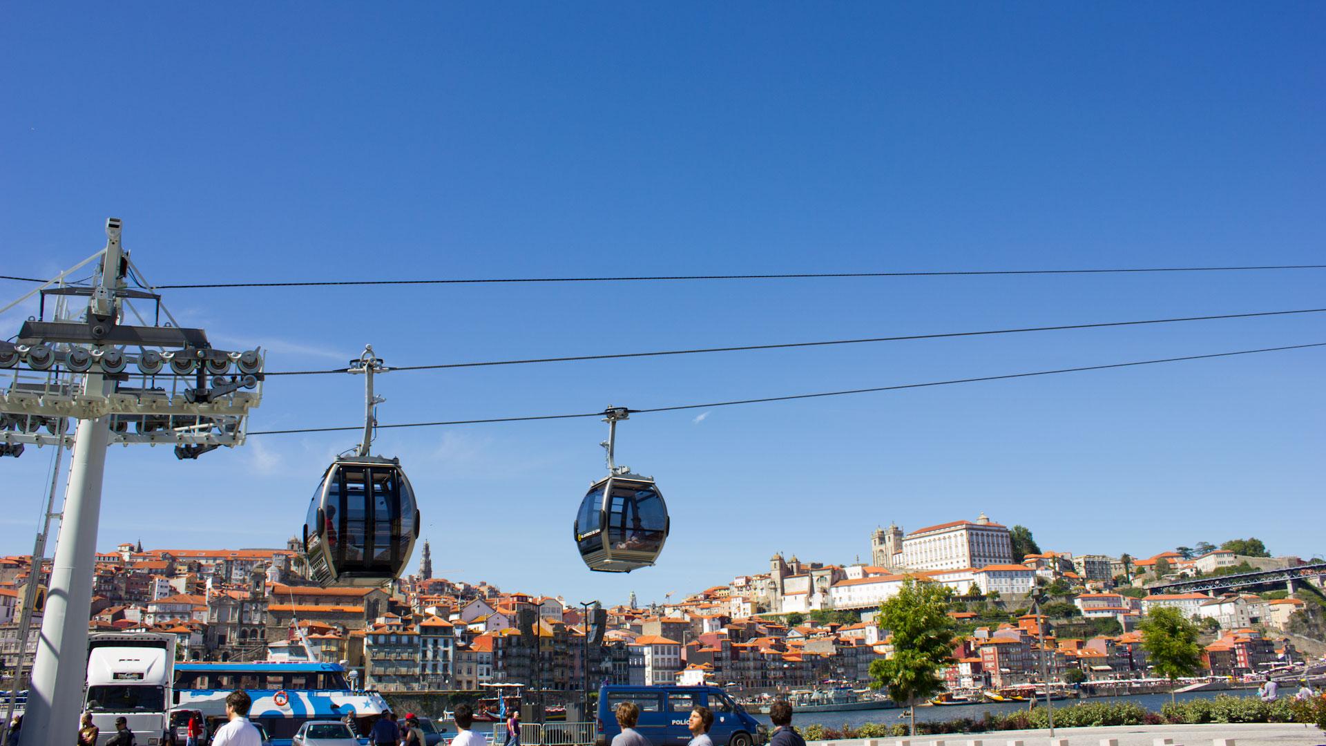 Cable cars in Vila Nova de Gaia