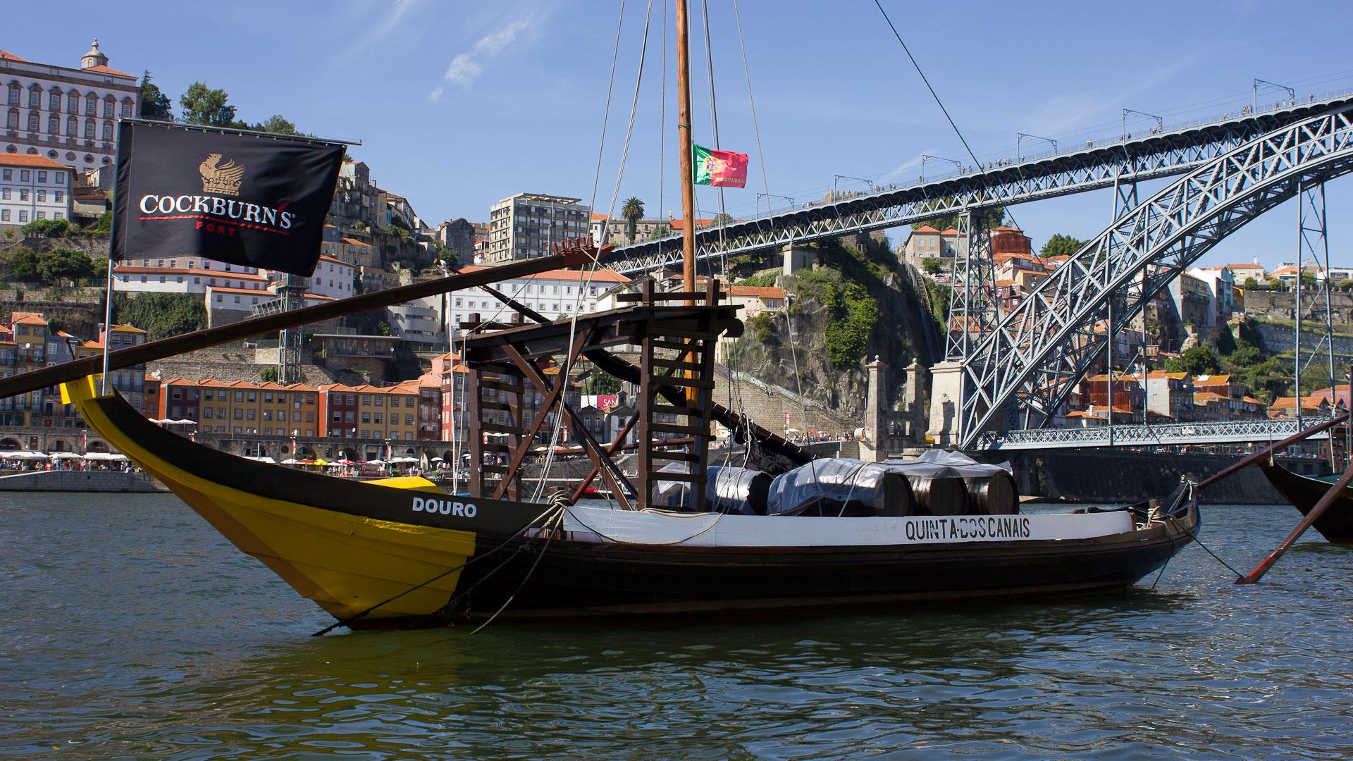 Rabelo boat in Porto