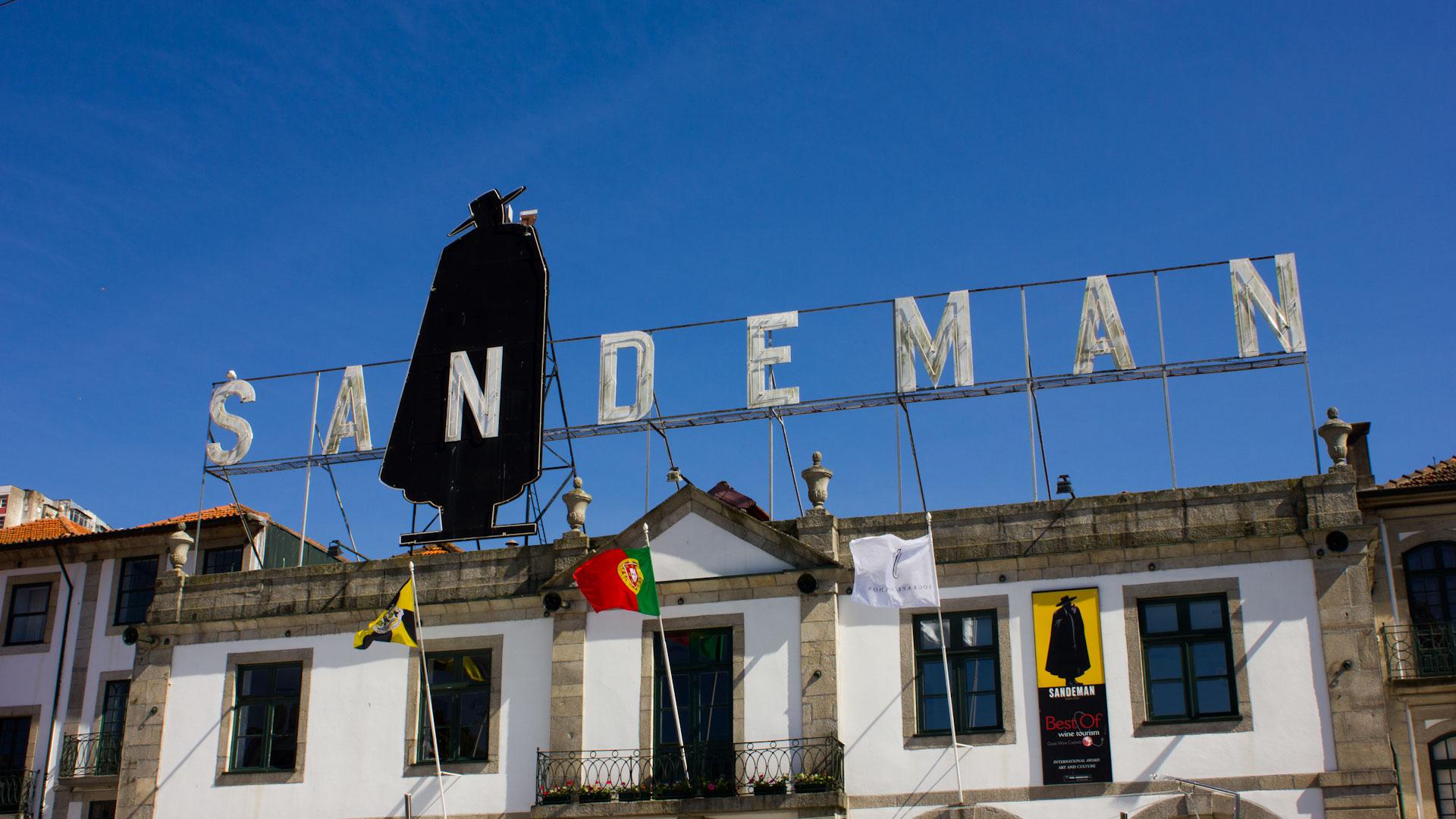 Sandeman port wine cellar Porto