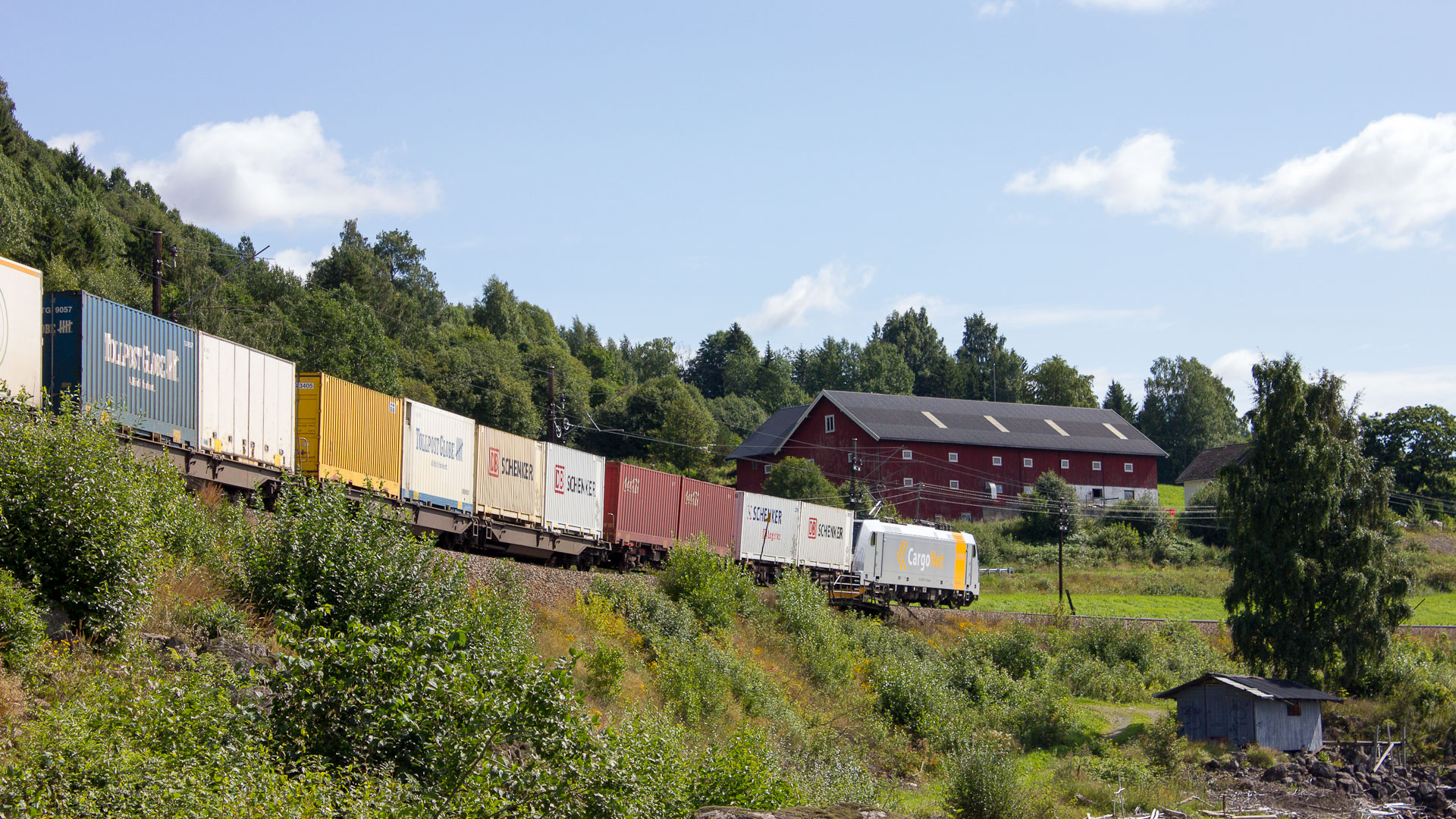 Cargo delivery train